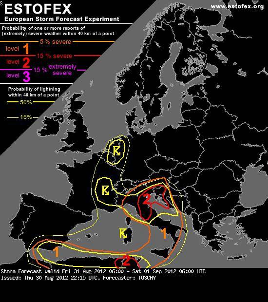 Genovska ciklona prijeti Istri: u očekivanju 12 satne kiše - upozorenje na veliku mogućnost  snažnog nevremena - Na Fortici postavljena profesionalna meteorološka postaja