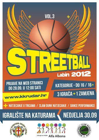 [Prijave u tijeku] Streetball - natjecanje u uličnoj košarci 30. rujna na Katurama / Labin