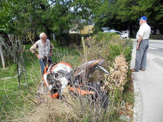 Ozlijeđen motociklist iz Vineža