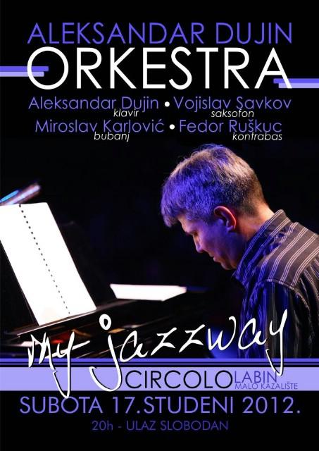 U subotu jazz koncert Aleksandar Dujin Orkestra @ Malo kazalište Labin