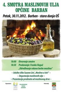 Četvrta smotra maslinovih ulja Barbanštine