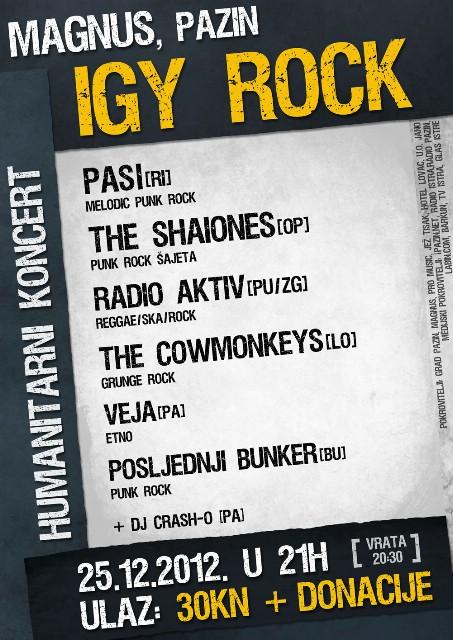 Humanitarni koncert 25.12.2012. IGY ROCK @ Magnus, Pazin