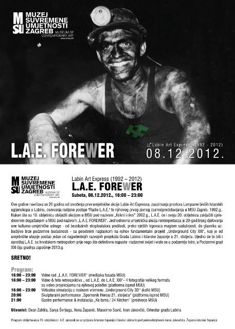 LAE Forewer 1992 - 2012. u Muzeju suvremene umjetnosti u Zagrebu