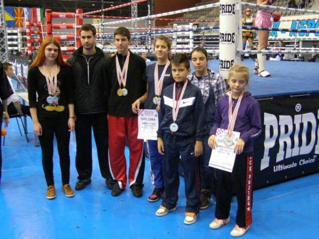"""Na otvorenom prvenstvu Hrvatske u kickboxingu  """"Croatia open 2012` Labinjani osvojili 12 medalja"""
