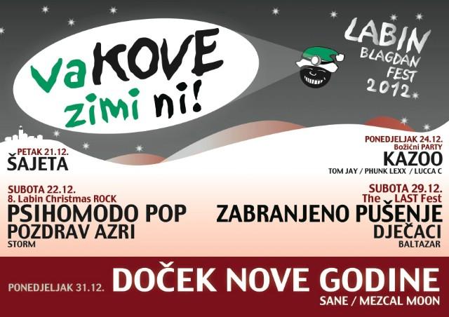 Sve je spremno za 11 - todnevni Labinski božićni festival `vaKOVE zimi ni!` (sajmeni i zabavni program)