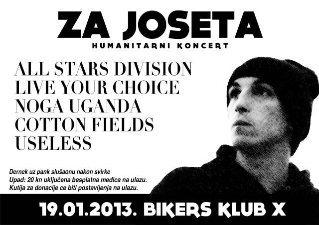 "Humanitarni koncert ""Za Joseta"" danas u ""Bikers Bar X"" na Dubrovi"