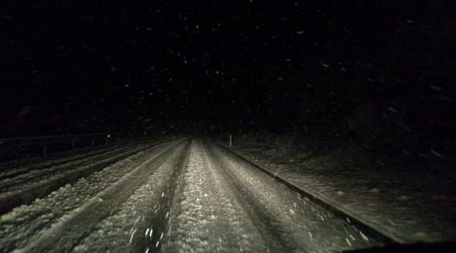 Zimski uvjeti vožnje na Labinštini i Ipsilonu / U Labinu 2 nezgode bez ozlijeđenih