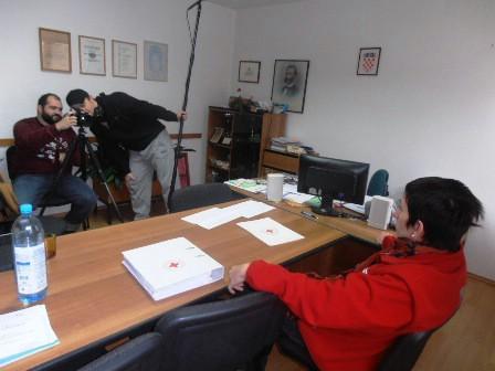 I u Gradskom društvu Crvenog križa Labin sniman dio promidžbenog filma o darivanju krvi u produkciji labinskog studija Level 52