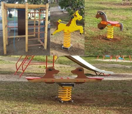 Postavljene sprave za dječja igrališta