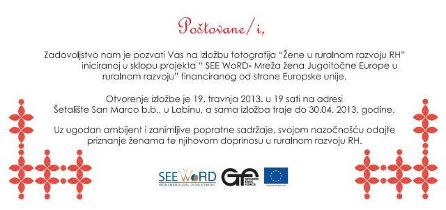 Labin: U petak otvorenje izložbe `Žene u ruralnom razvoju RH`