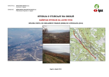 Zahvat spojne ceste od obilaznice Vranja do Lupoglava na javnoj raspravi