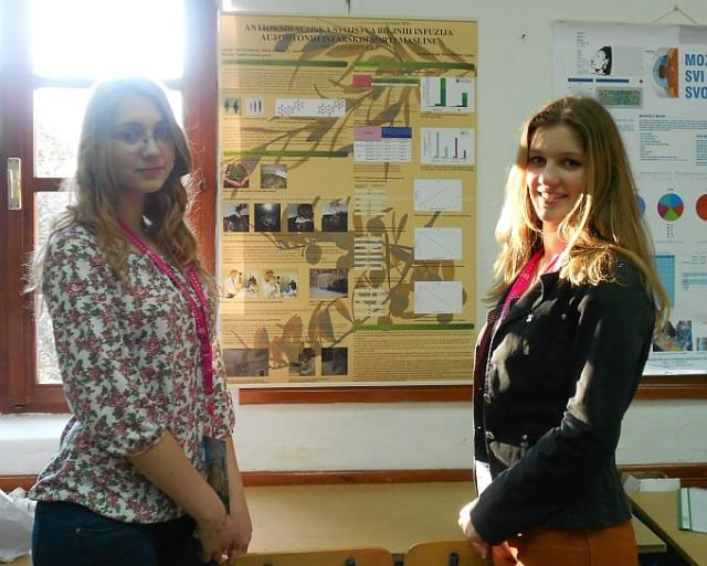 Silvia Milevoj i Tea Načinović pod vodstvom prof. Sandre Juran osvojile 4. mjesto na državnom natjecanju  iz biologije