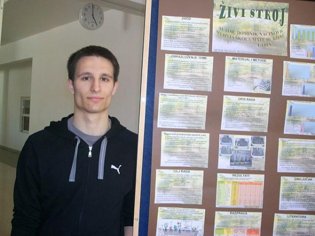 Dominik Načinović i prof. Mira Hrvatin 1. na državnom natjecanju iz kemije