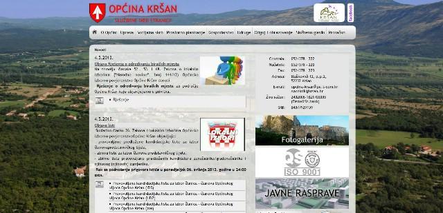 Nove web stranice Općine Kršan