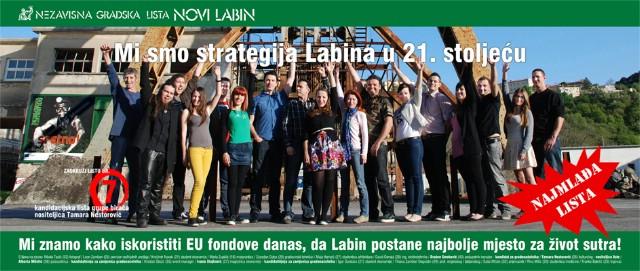 Nezavisna lista  `Novi Labin` nositeljice Tamare Nestorović u četvrtak se predstavlja građanima