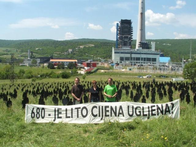 Akcija protiv Plomina C: 680 crnih ljudskih silueta