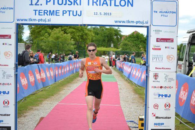 Luka Paliska drugi na 12. Ptujskom triatlonu