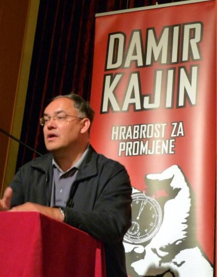 Kandidat za istarskog župana Damir Kajin večeras na tribini u Raši