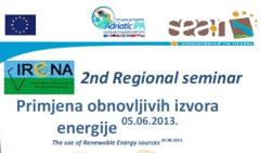 Održan drugi seminar o primjeni obnovljivih izvora energije