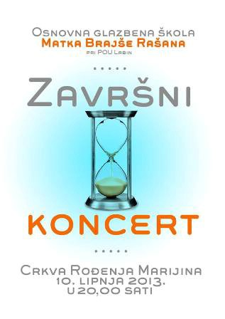 Večeras završni koncert učenika Osnovne glazbene škole Matko Brajša Rašan