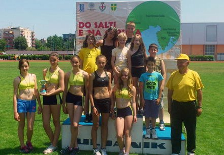 """Atletičari """"Albone"""" uspješni na međunarodnom mitingu u Puli"""
