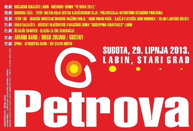 Labinska pučka fešta uz Gustafe - Petrova 2013. - program