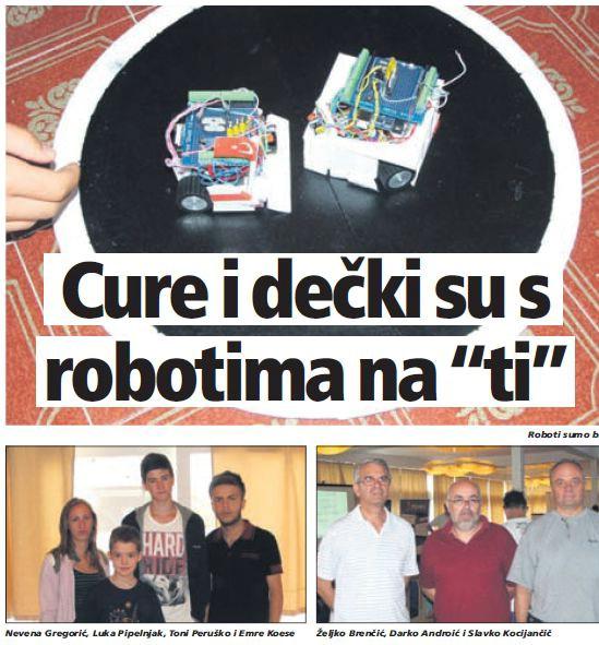 Cure i dečki su s robotima na `ti` - NA MEĐUNARODNOJ LJETNOJ ŠKOLI ROBOTIKE I ELEKTRONIKE U RAPCU SUDJELOVALO JE 60 UČENIKA
