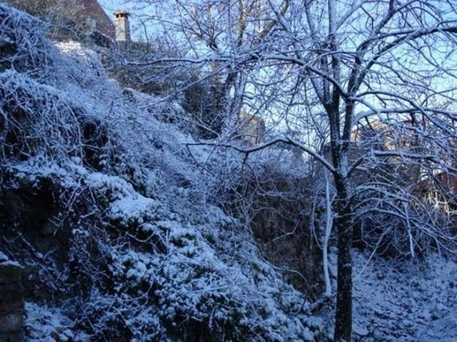 Labin se jutros probudio u snijegu