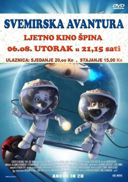 Danas Kod Špine animirani film `Svemirska avantura` sutra Klasično ljeto u Župnoj Crkvi `Zagrebački duhački trio`