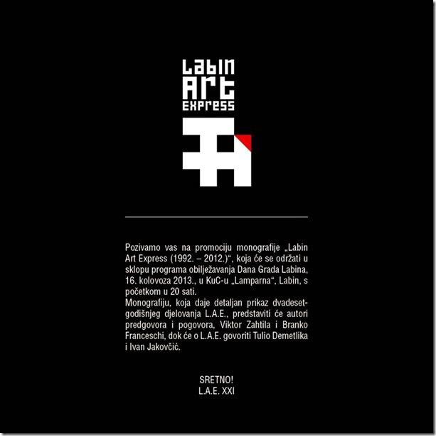 """Promocija monografije """"Labin Art Express (1992. - 2012.)"""