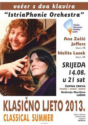 Labinski uzlet likovnosti i koncert Večer s dva klavira