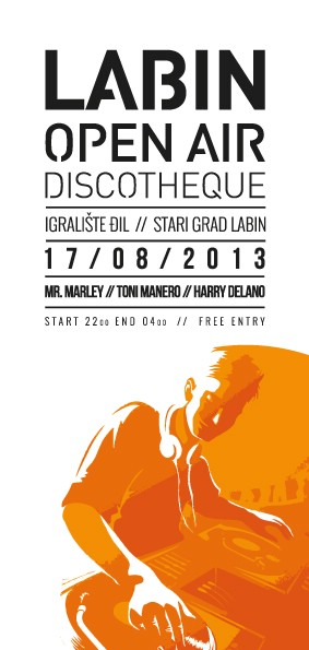 Labin Open Air Discoteque 17. 08. 2013. @ Stari Grad Labin / igralište Đil