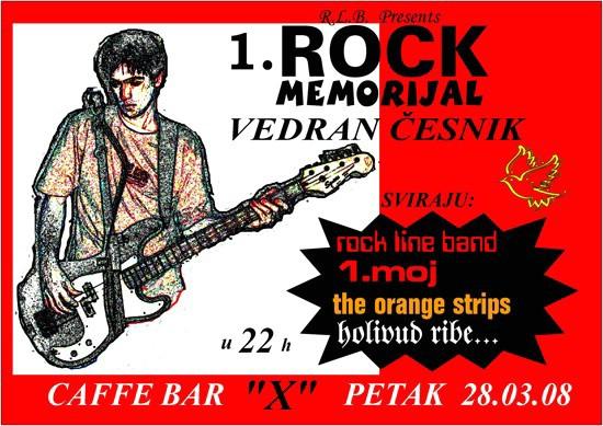 1. Rock memorijal Vedran Česnik u petak u Caffe baru