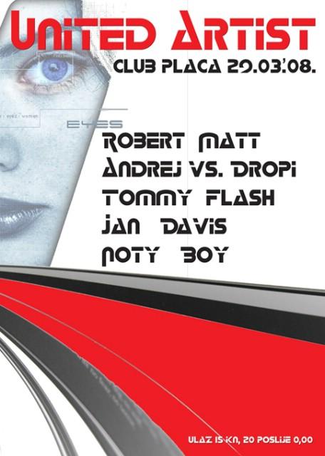 Artist United u klubu Placa u subotu!