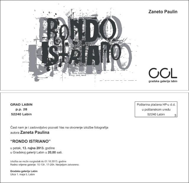 Multimedijalni projekt Rondo Istriano u Gradskoj galeriji Labin