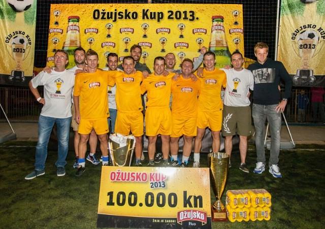 """Malonogometaši """"Potpićna 98 ABS"""" pod imenom """"Pekara Vilson"""" osvojili naslov pobjednika prestižnog malonogometnog turnira """"Ožujsko kup 2013"""""""