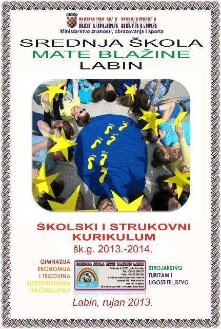 Dovršen i objavljen Školski kurikulum Srednje škole Mate Blažine Labin za šk.g. 2013.-2014.