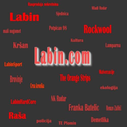 """""""Tag cloud"""" na Labin.com-u"""