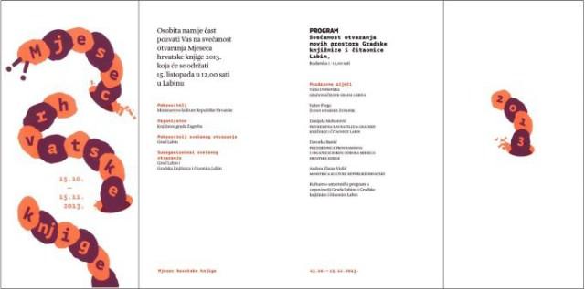 Sutra se svečano otvara Nova gradska knjižnica i obilježava početak Mjeseca hrvatske knjige 2013.  - program
