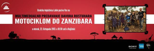 Multimedijalno predavanje - Motociklom do Zanzibara mladog hrvatskog putopisca Davora Rostuhara
