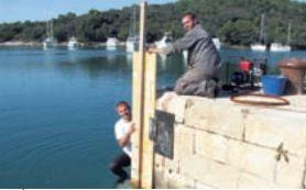 Saniran podvodni dio  luke Tunarica