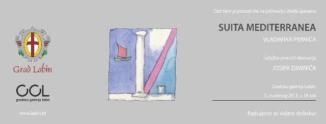 Gradska galerija Labin: Promocija zbirke pjesama Vladimira Pernića `Suita Mediterranea` i pratećih ilustracija Josipa Diminića