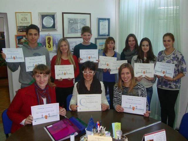 Labinskoj Srednjoj školi Mate Blažine priznanje nacionalne i europske oznake kvalitete