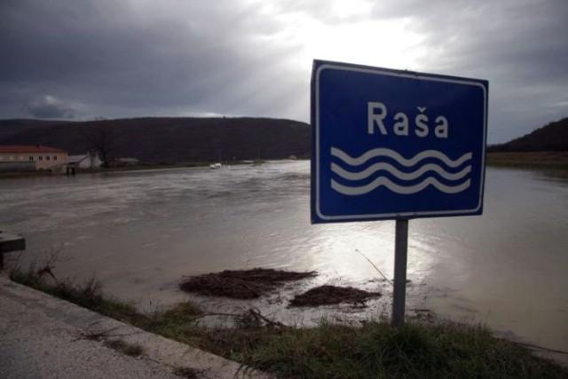 Rijeka Raša: Izvanredne mjere obrane od poplave, u Labinu palo 88 mm kiše