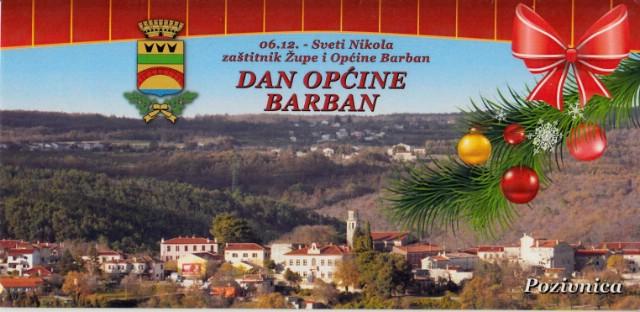 Općina Barban danas slavi svoj dan