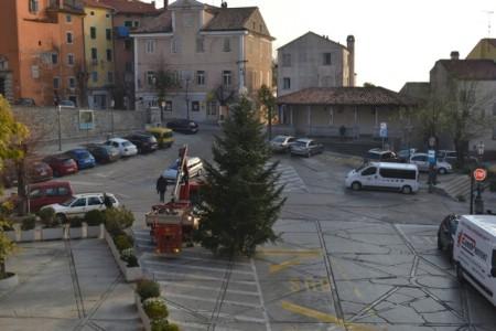 Obitelj Basanić iz Raše po drugi put poklonila božićnu jelku građanima Labina