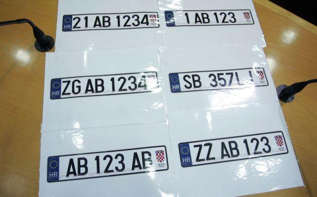 Građani biraju izgled novih registracijskih tablica:Koji je od ovih prijedloga najbolji?