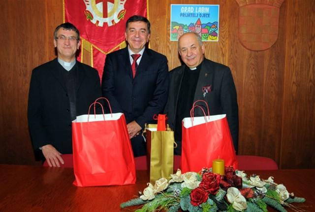 Gradonačelnik Labina primio labinske svećenike i novinare