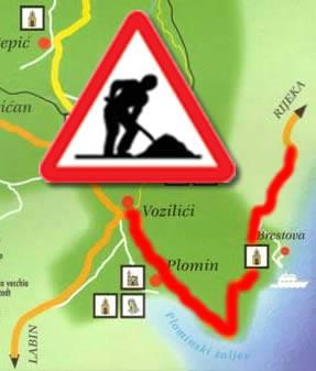 Obnova ceste Vozilići - Brseč