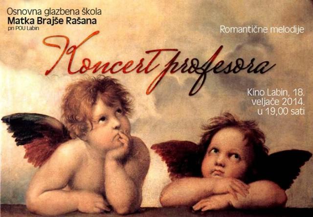 Koncert profesora Osnovne glazbene škole Matko Brajša Rašan